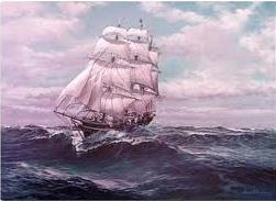 ...sempre su navi a vela.