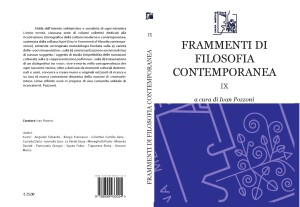 Copertina per il manuale FRAMMENTI DI FILOSOFIA CONTEMPORANEA IX