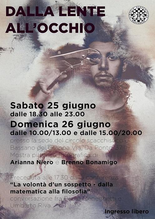Locandina per Bonamigo, Meneghetti, Niero, Riva al CIRCOLO SCACCHISTICO BASSANESE